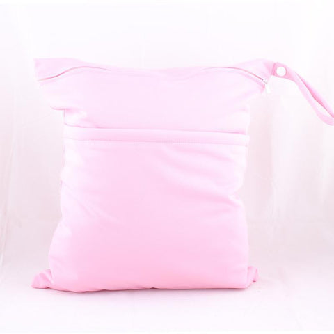Personalised Pastel Pink Waterproof Wet Bag - Little One Layette