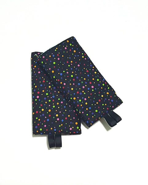 Travel mate with Colorful Dots in Reverse Straight Drool Pads - Little One Layette