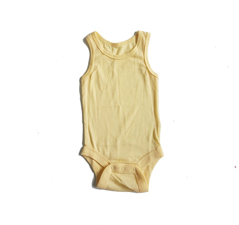 Air Mesh Onesie In Yellow - Little One Layette