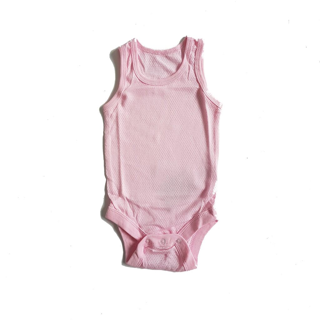 Air Mesh Onesie In Pink - Little One Layette