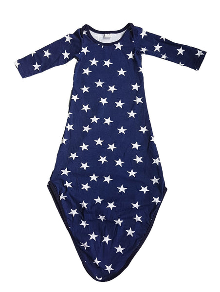 Starry Stars Layette Knot Sleep Gown & Beanie set - Little One Layette