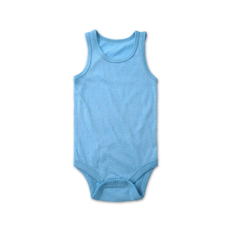 Air Mesh Onesie In Blue - Little One Layette