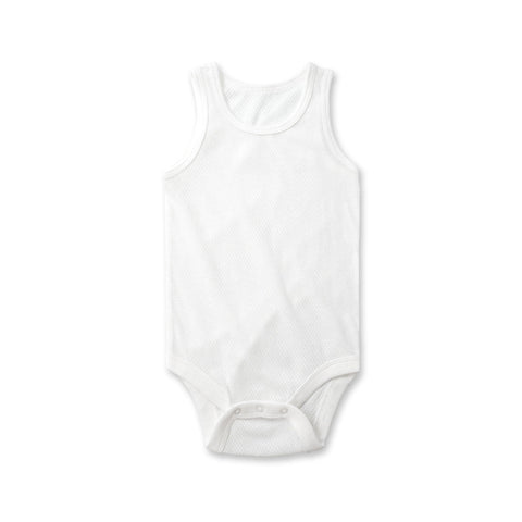Air Mesh Onesie In White - Little One Layette