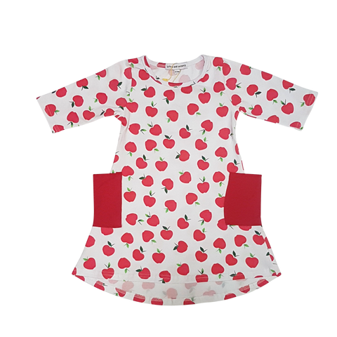 Apples Are So In The Season Girl's Dress - Little One Layette