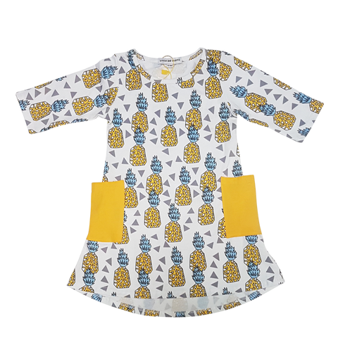 Get Your Pineapple On Girl's Dress - Little One Layette