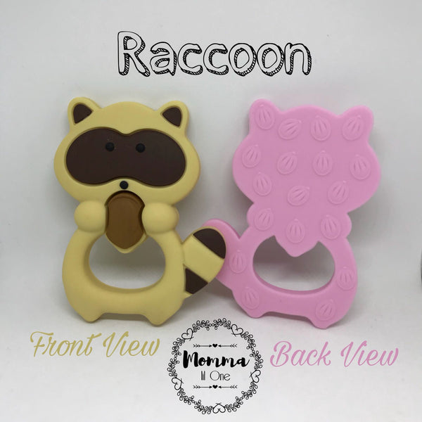 Raccoon Silicone Teether - Little One Layette