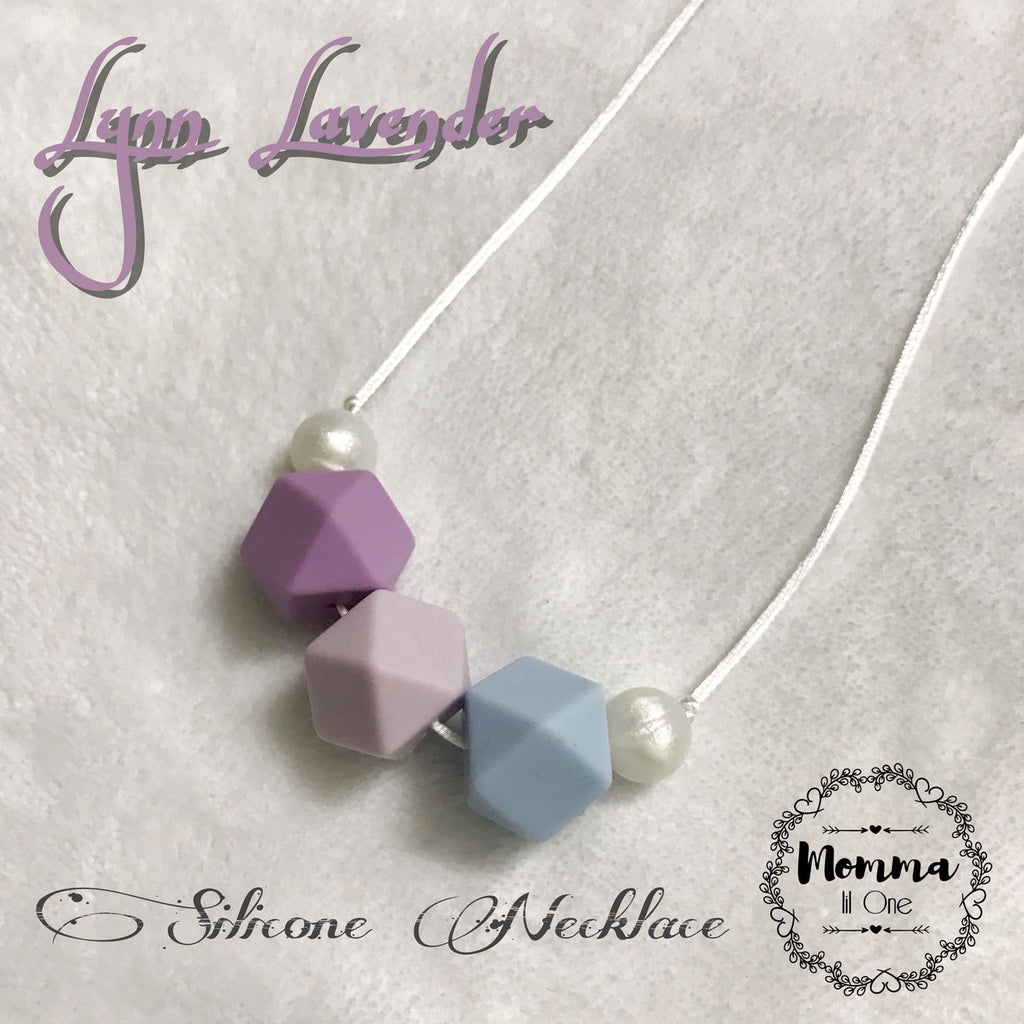 Lynn Lavender Silicone Necklace - Little One Layette