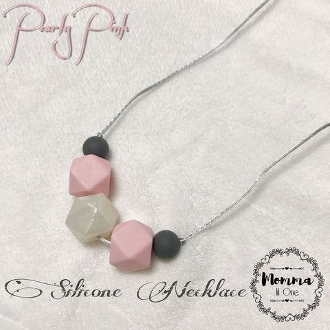 Pearly Pink Silicone Necklace - Little One Layette