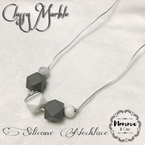 Classy Marble Silicone Necklace - Little One Layette