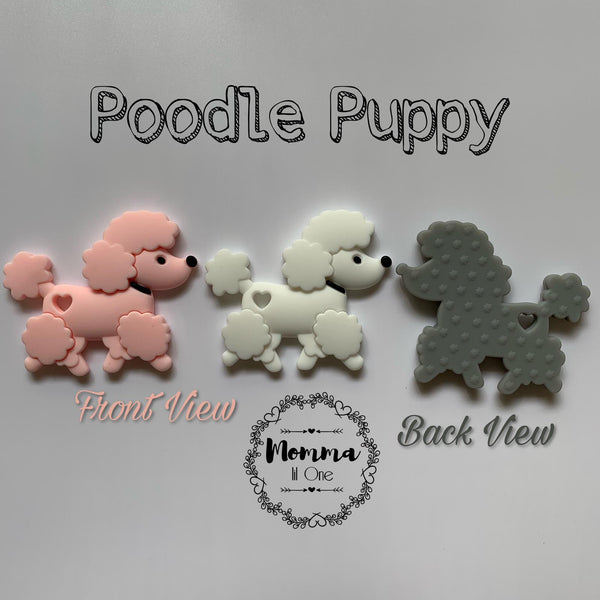 Poodle Puppy Silicone Teether - Little One Layette