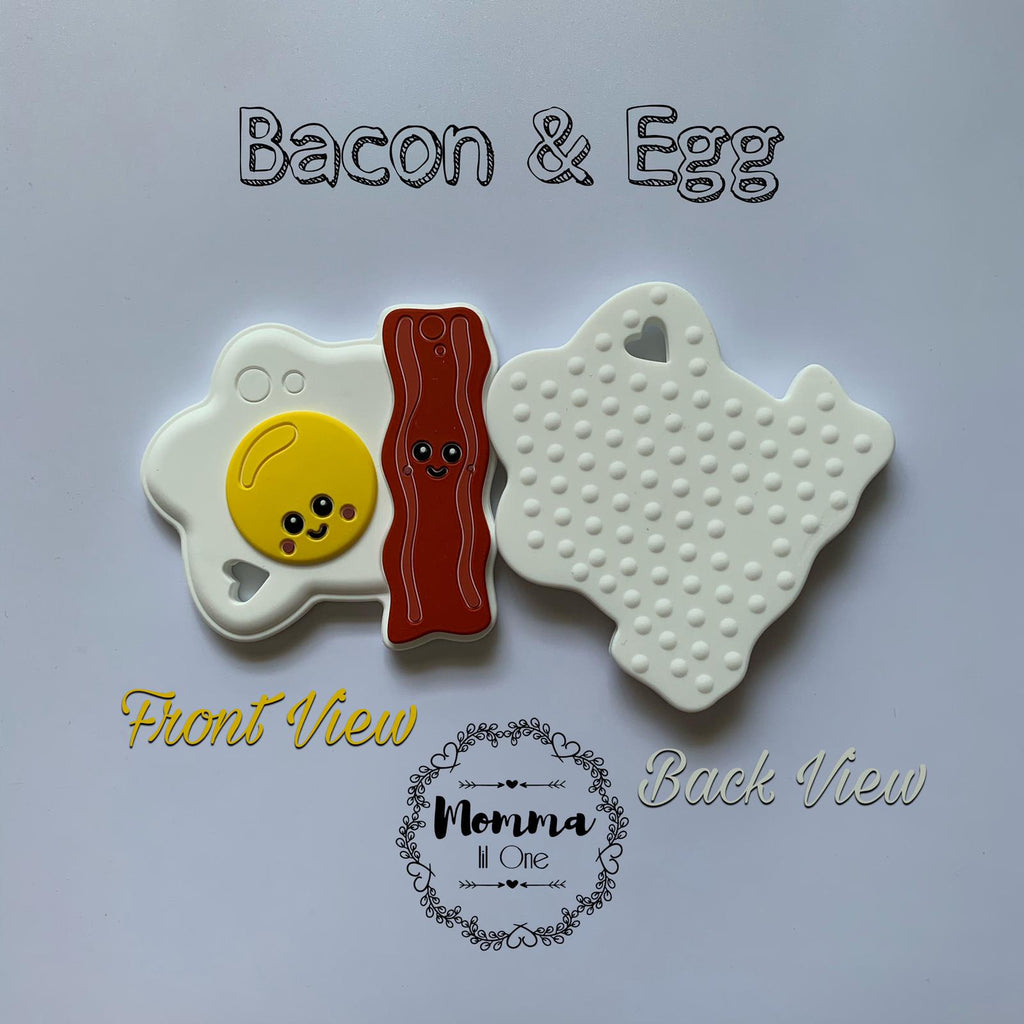 Bacon & Egg Silicone Teether - Little One Layette