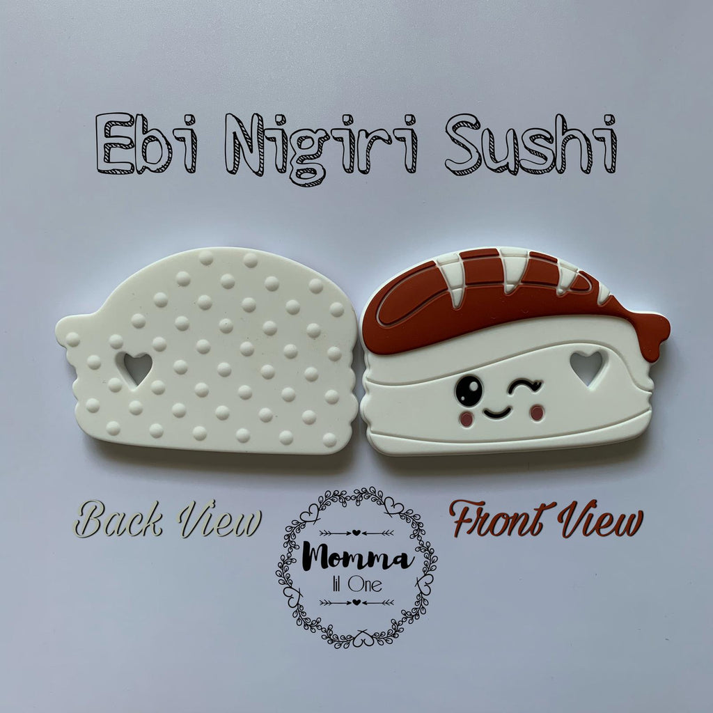 Ebi Nigiri Sushi Silicone Teether - Little One Layette