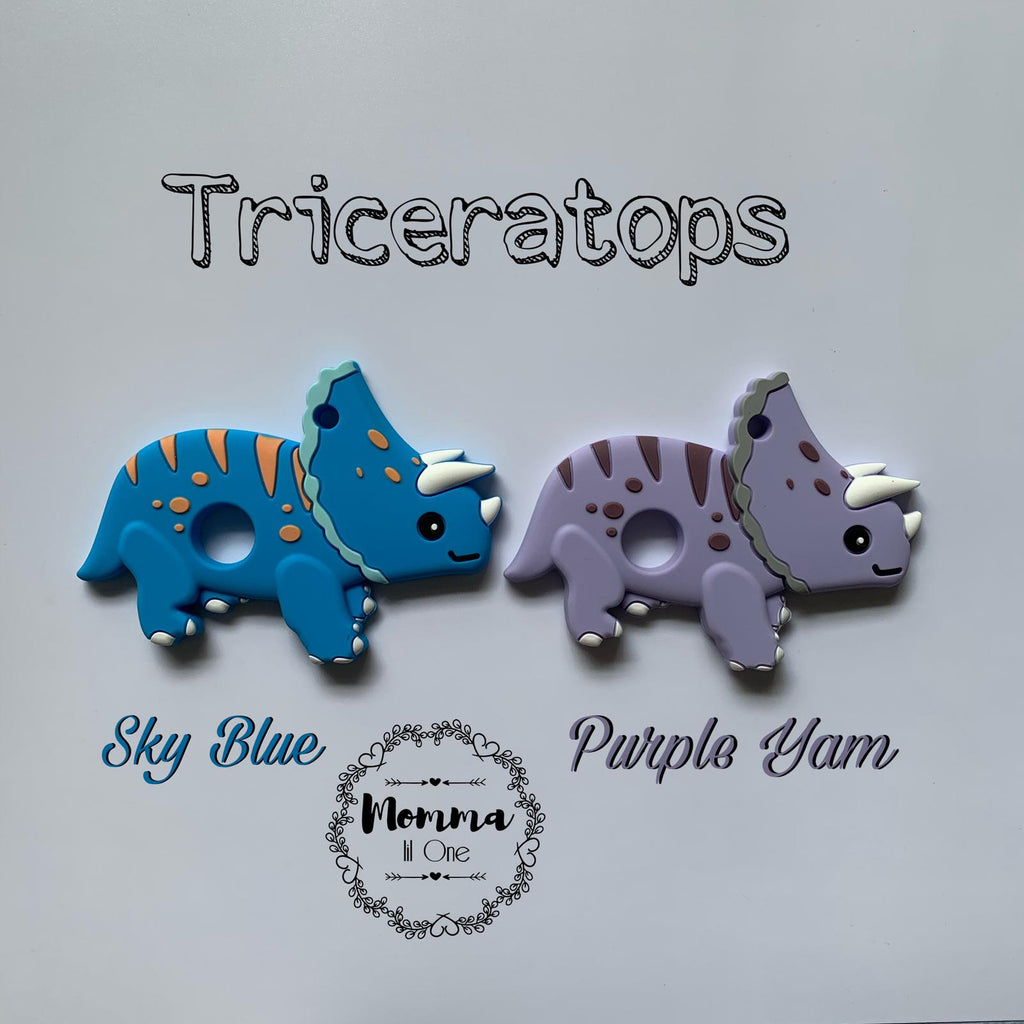 Triceratops Silicone Teether - Little One Layette