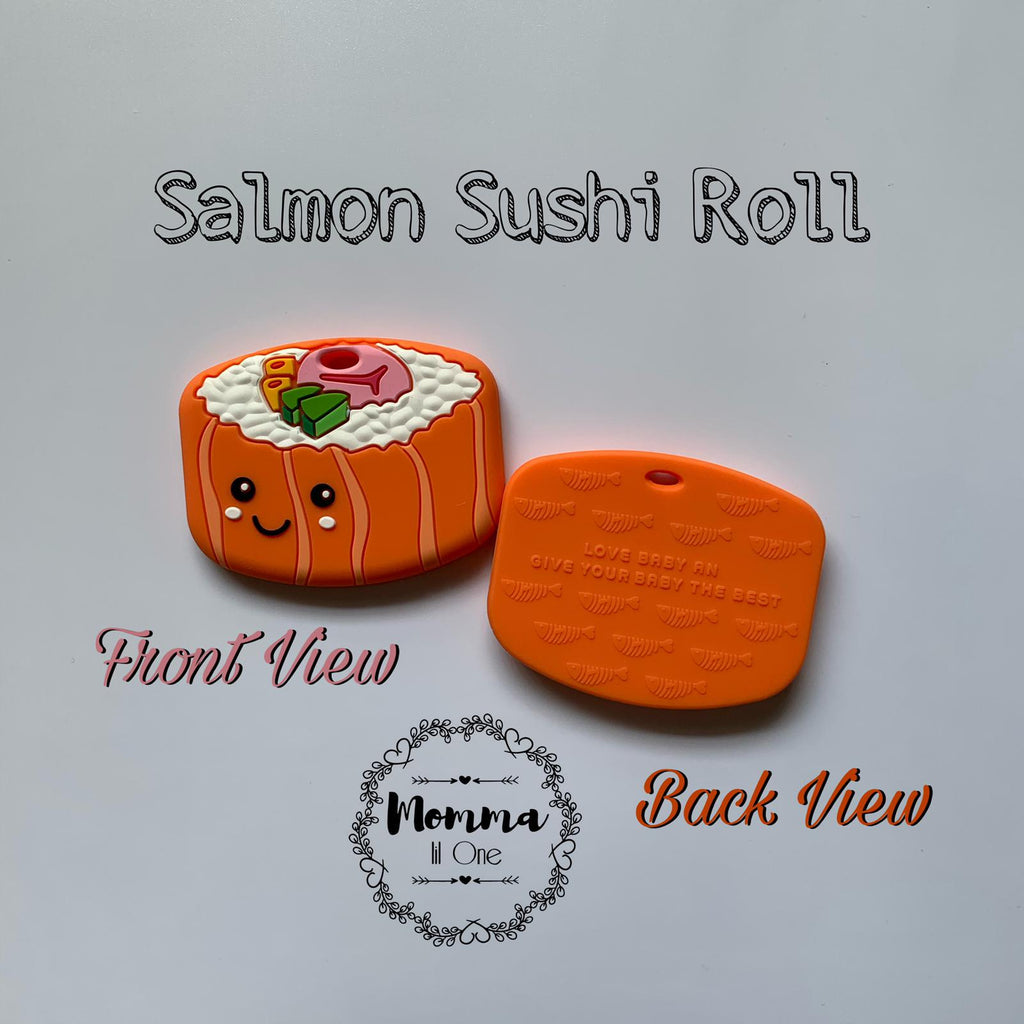 Salmon Sushi Silicone Teether - Little One Layette