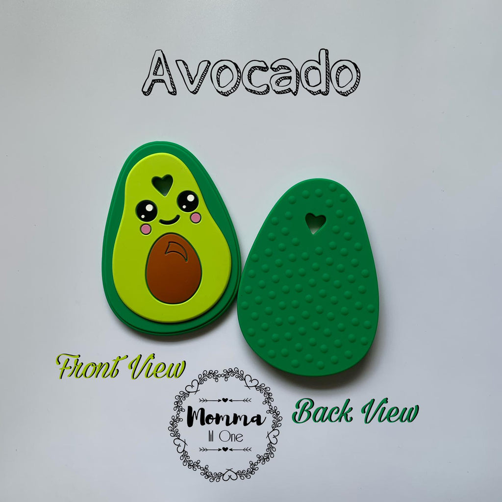 Avocado Silicone Teether - Little One Layette