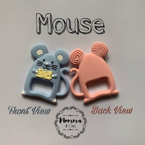 Mouse Silicone Teether - Little One Layette
