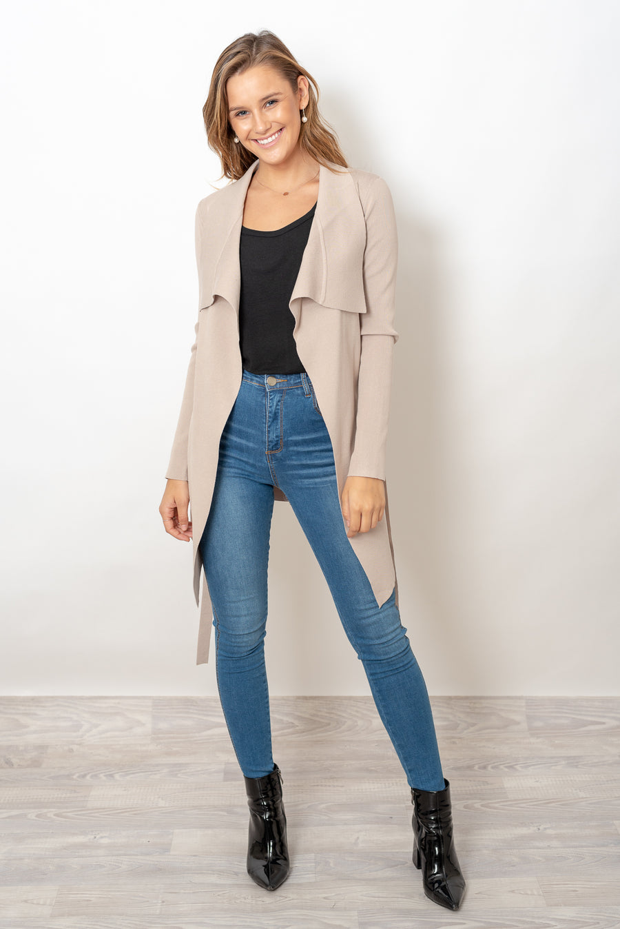 THE MONSAC CARDI - BEIGE
