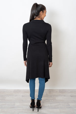 LONDON LONG CARDI - BLACK