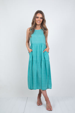 AIMEE DRESS - SAGE