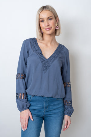 LUCIA TOP - BLUE