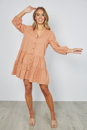 DOTTI DRESS - TAN