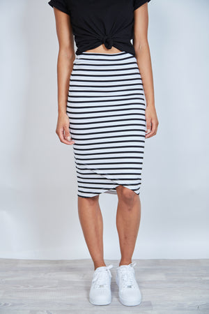 'BETTY BASICS'  SIRI SKIRT - STRIPE