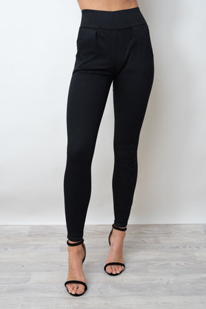 SAMMY MATTE PANTS - BLACK