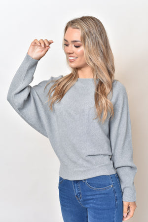 MONA KNIT  - LIGHT GREY