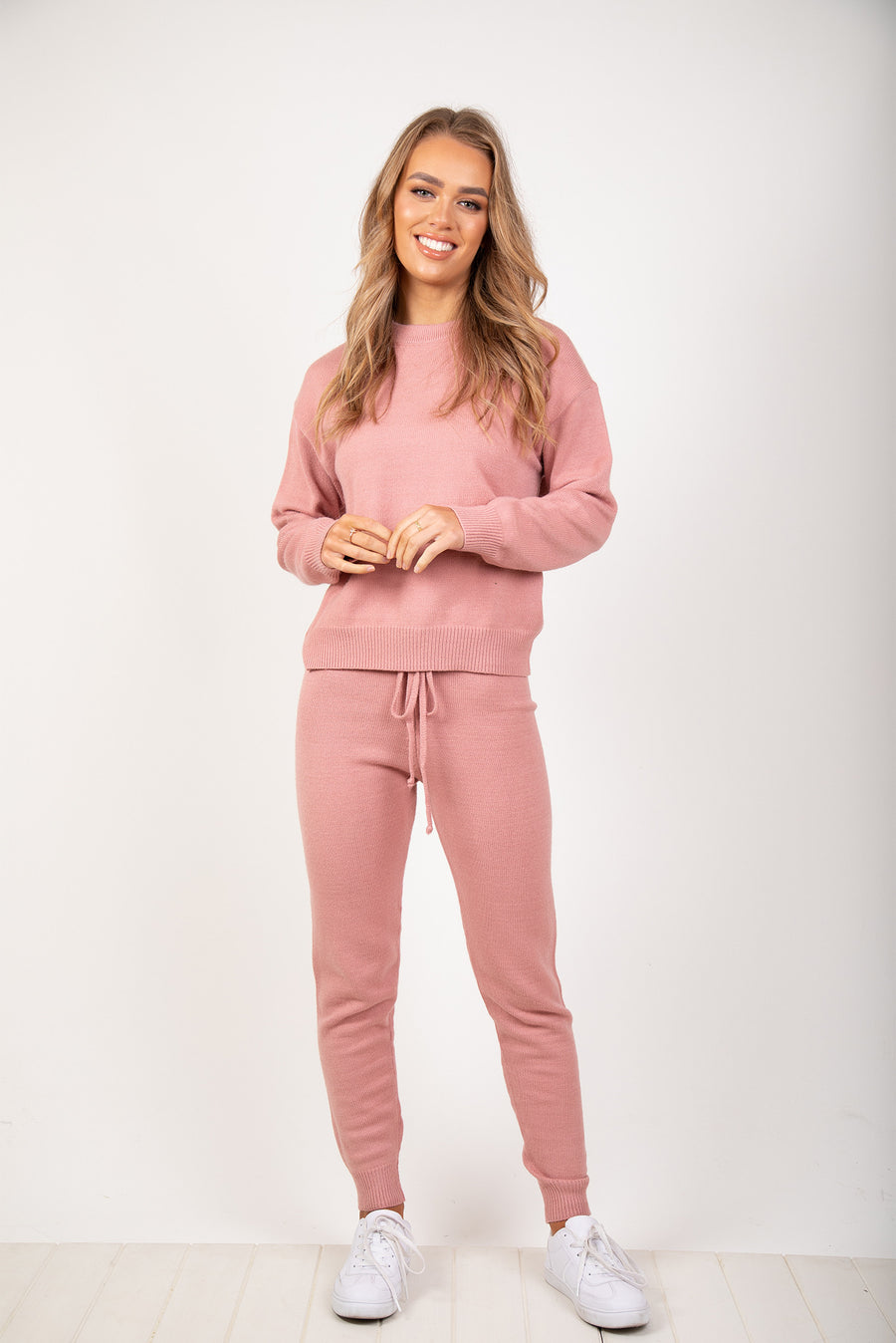 RILEY KNIT SET - PINK