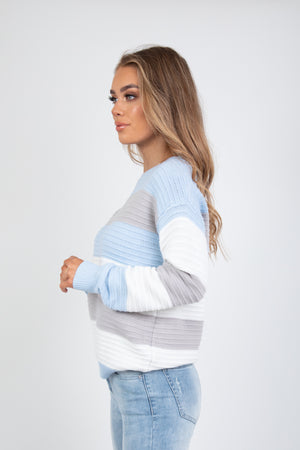SHEVON KNIT - BLUE