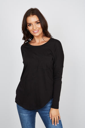 """BETTY BASICS "" PHOEBE TOP - BLACK"