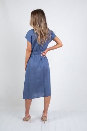 PETERSON DRESS - INDIGO