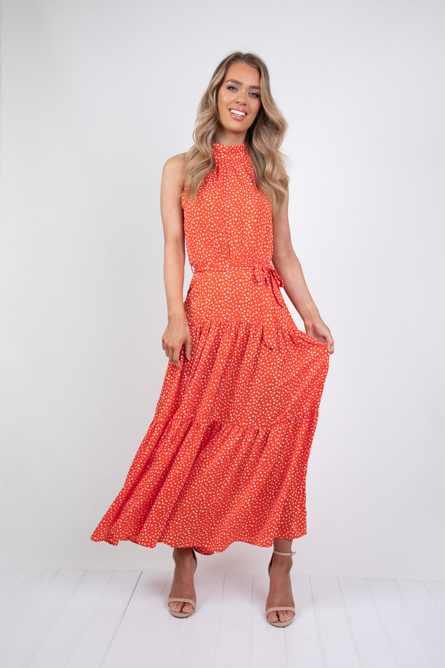 HAYDYN DRESS - RED PRINT