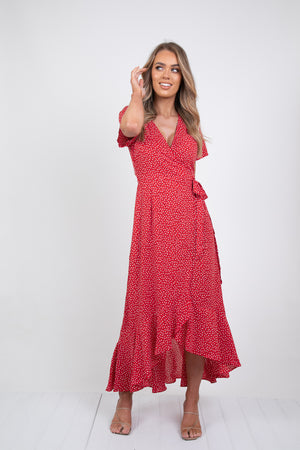 KYM MAXI DRESS - RED