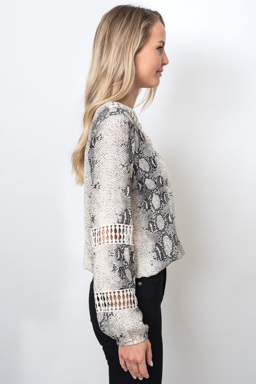 LUCIA TOP - SNAKE PRINT