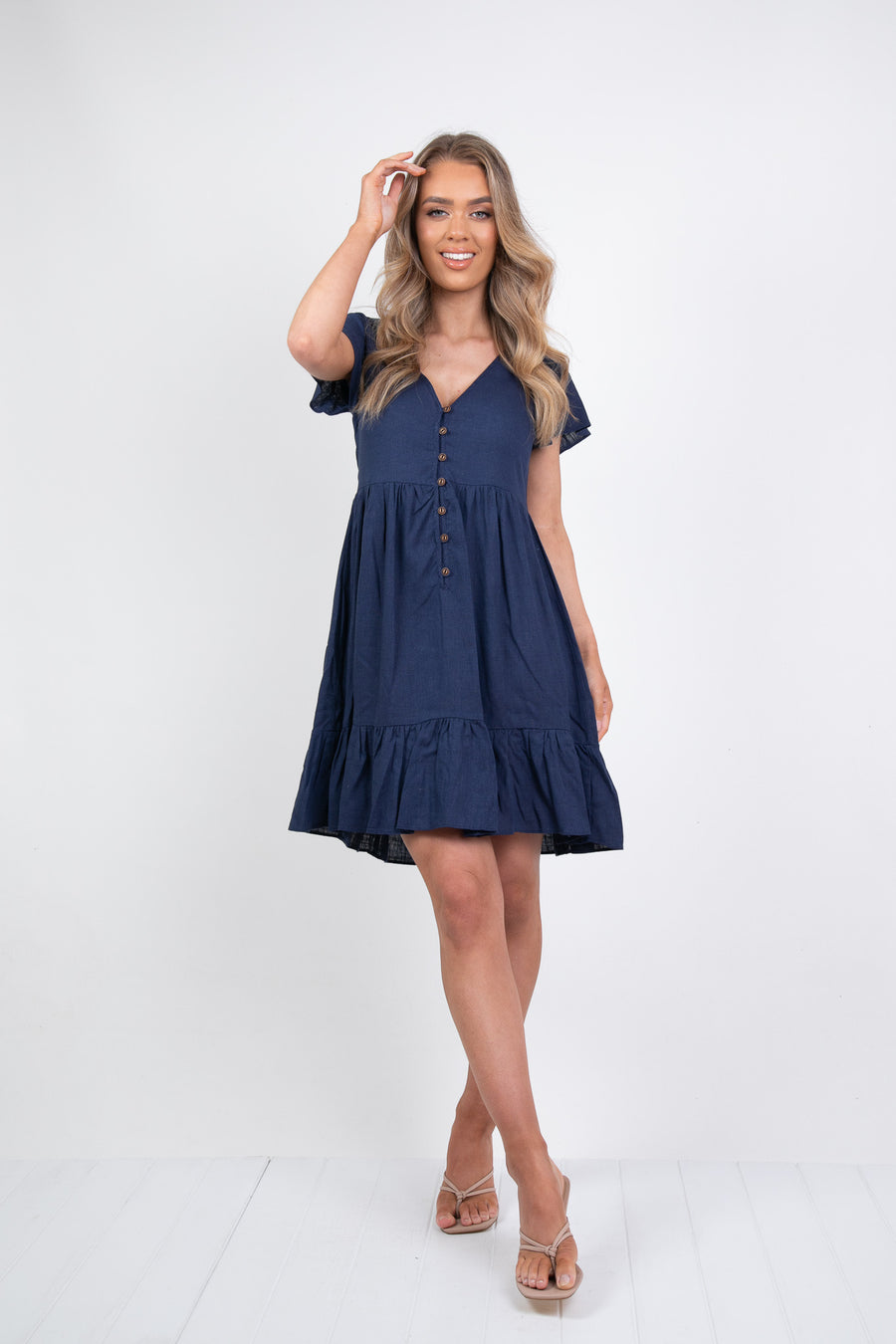 VERONICA DRESS - NAVY