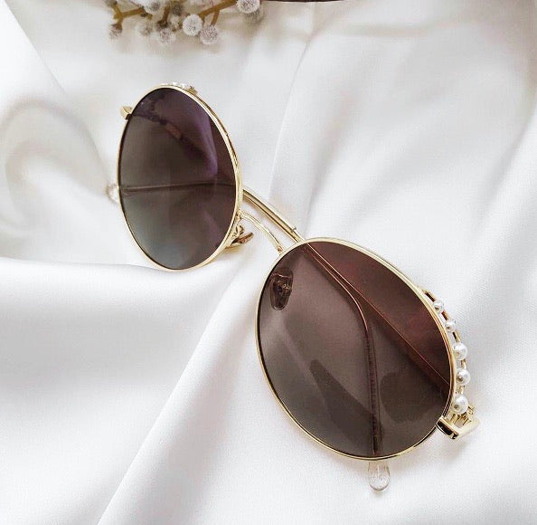 BESSY PEARL SUNNIES - GOLD