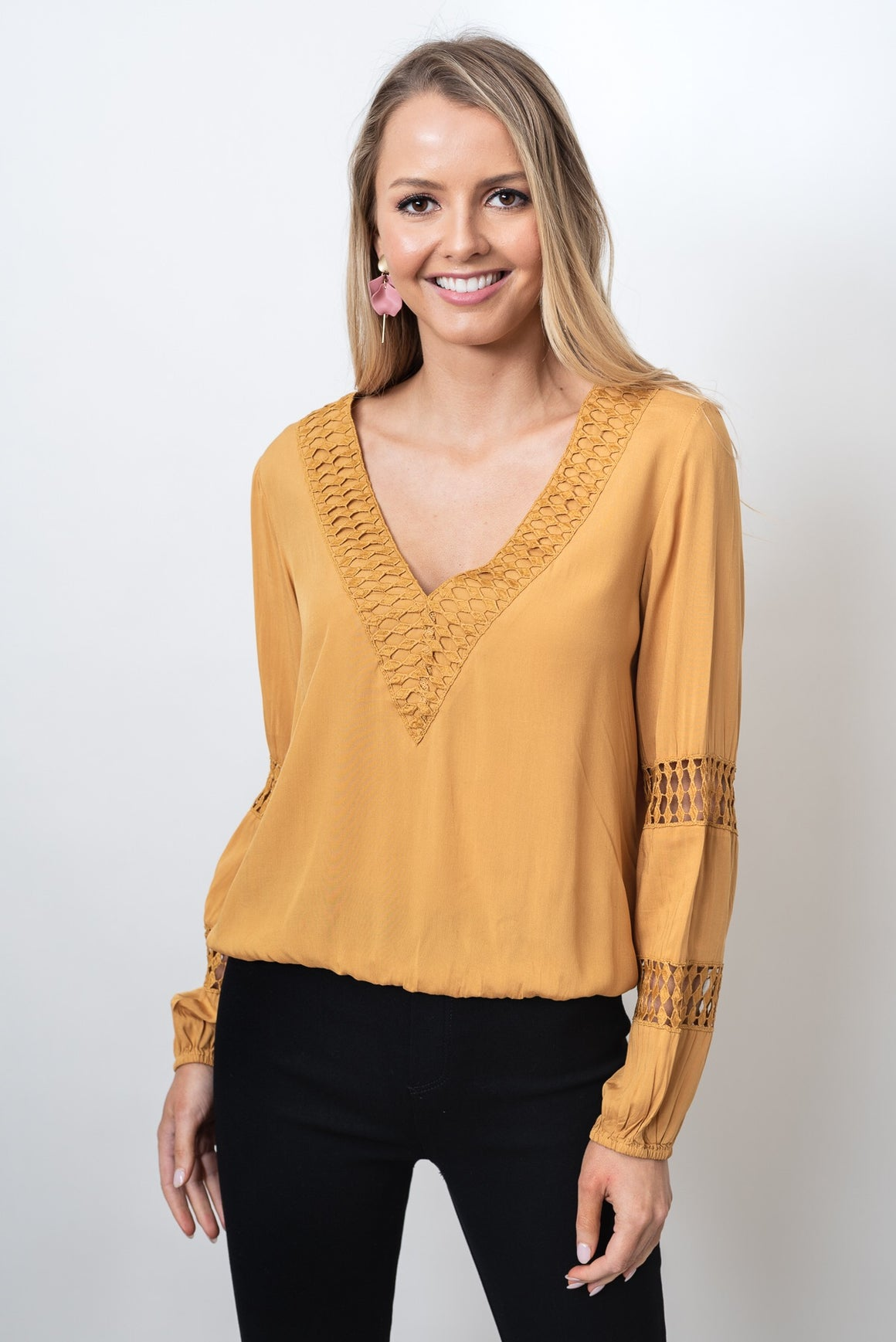 LUCIA TOP - MUSTARD