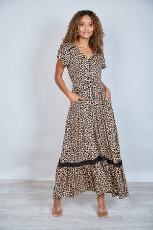 VALDEZ MAXI DRESS -LEOPARD