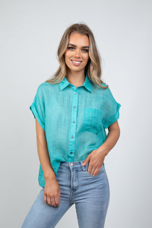 LEWIS SHIRT - TEAL
