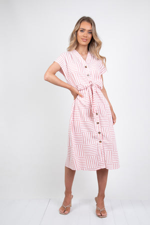PETERSON DRESS - PINK STRIPE