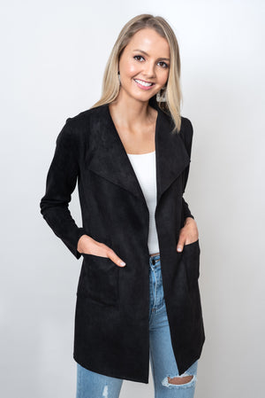 MARRIOT SUEDE JACKET - BLACK