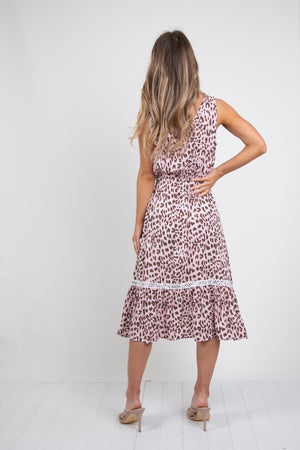 XANA DRESS- LEOPARD