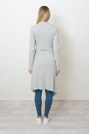 LONDON LONG CARDI - GREY