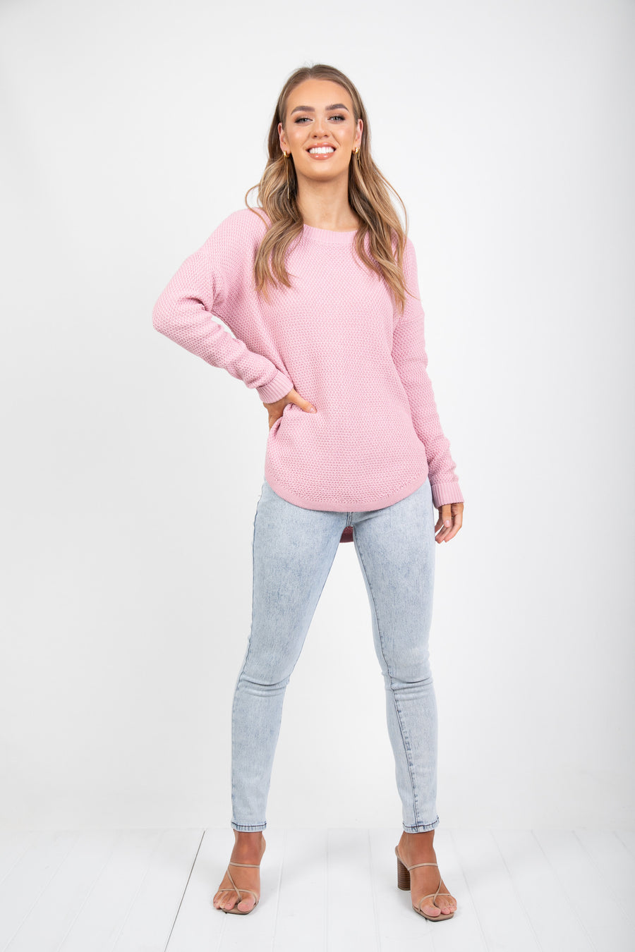 TRIBECA ZIP BACK KNIT - PINK