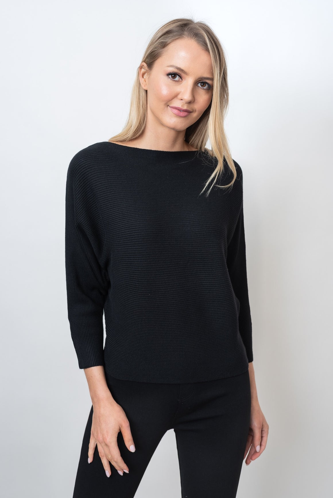 MONA KNIT  - BLACK