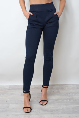 SAMMY MATTE PANTS - NAVY