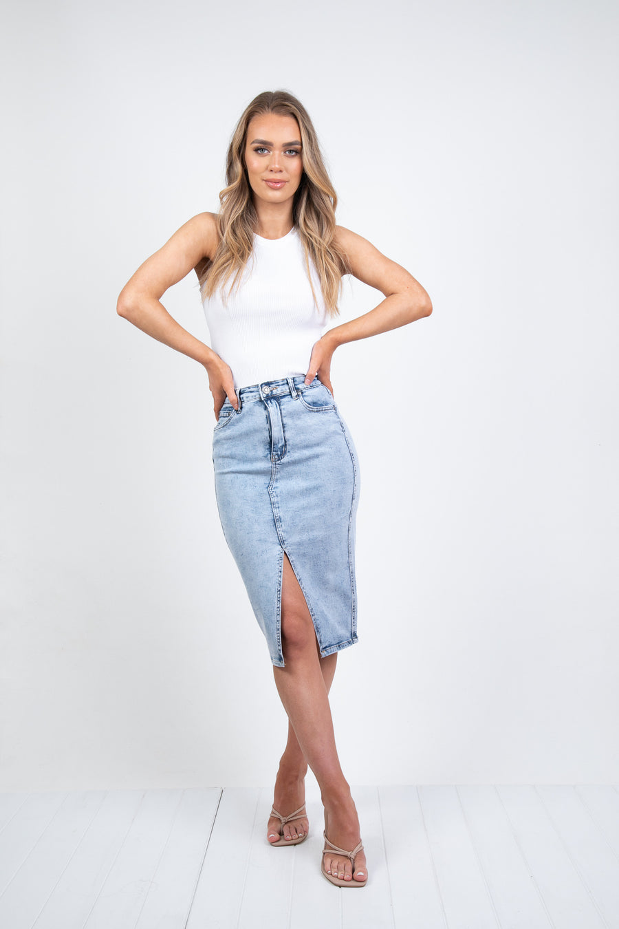 NEWMAN SKIRT - LIGHT DENIM