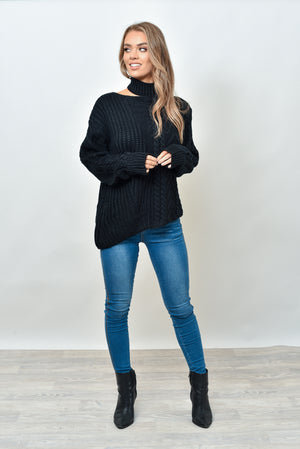MERCEDES KNIT - BLACK