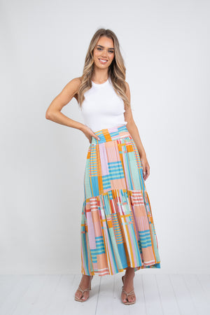 JULES MAXI SKIRT - MULTI